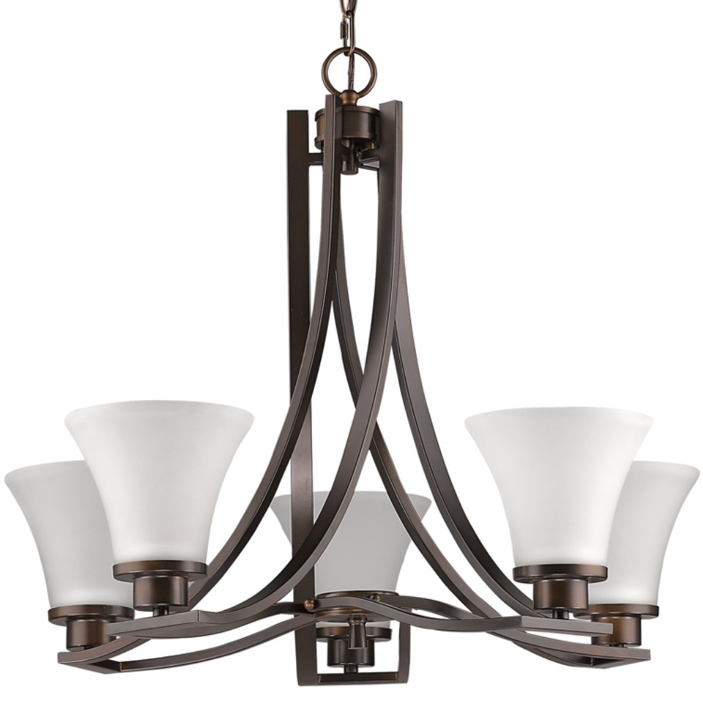 Mia Oil Rubbed Bronze Amp Glass Shade Chandelier 26 Quot Wx21 Quot H