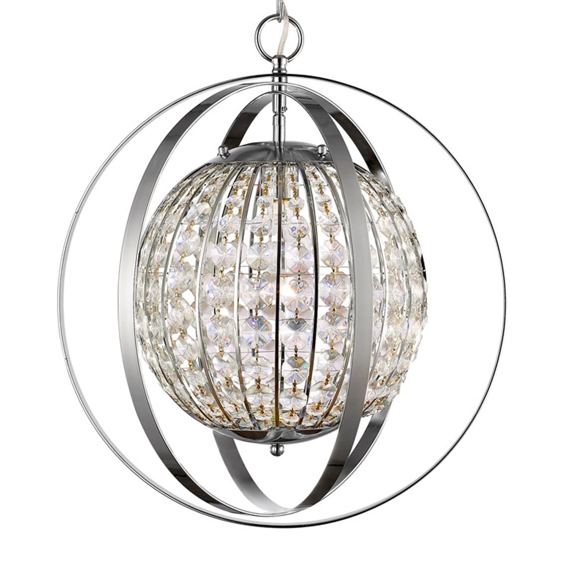 Olivia polished nickel crystal pendant light 16wx19h in11096pn olivia polished nickel crystal sphere pendant light 16wx19h aloadofball Gallery