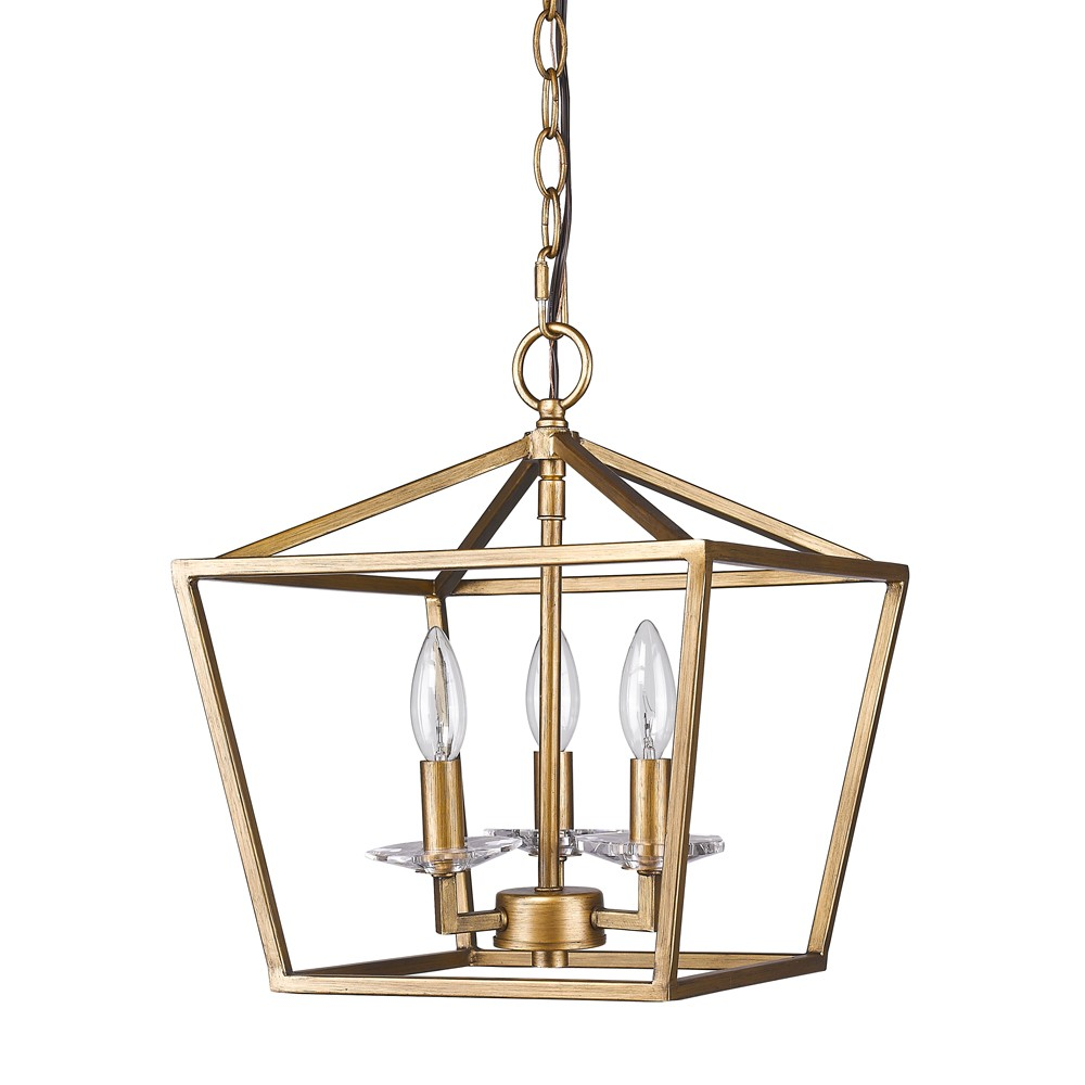 Kennedy Antique Gold Lantern Pendant Light 12 Wx14 H  sc 1 st  L& Shade Pro & Kennedy Antique Gold Lantern Pendant Light 12