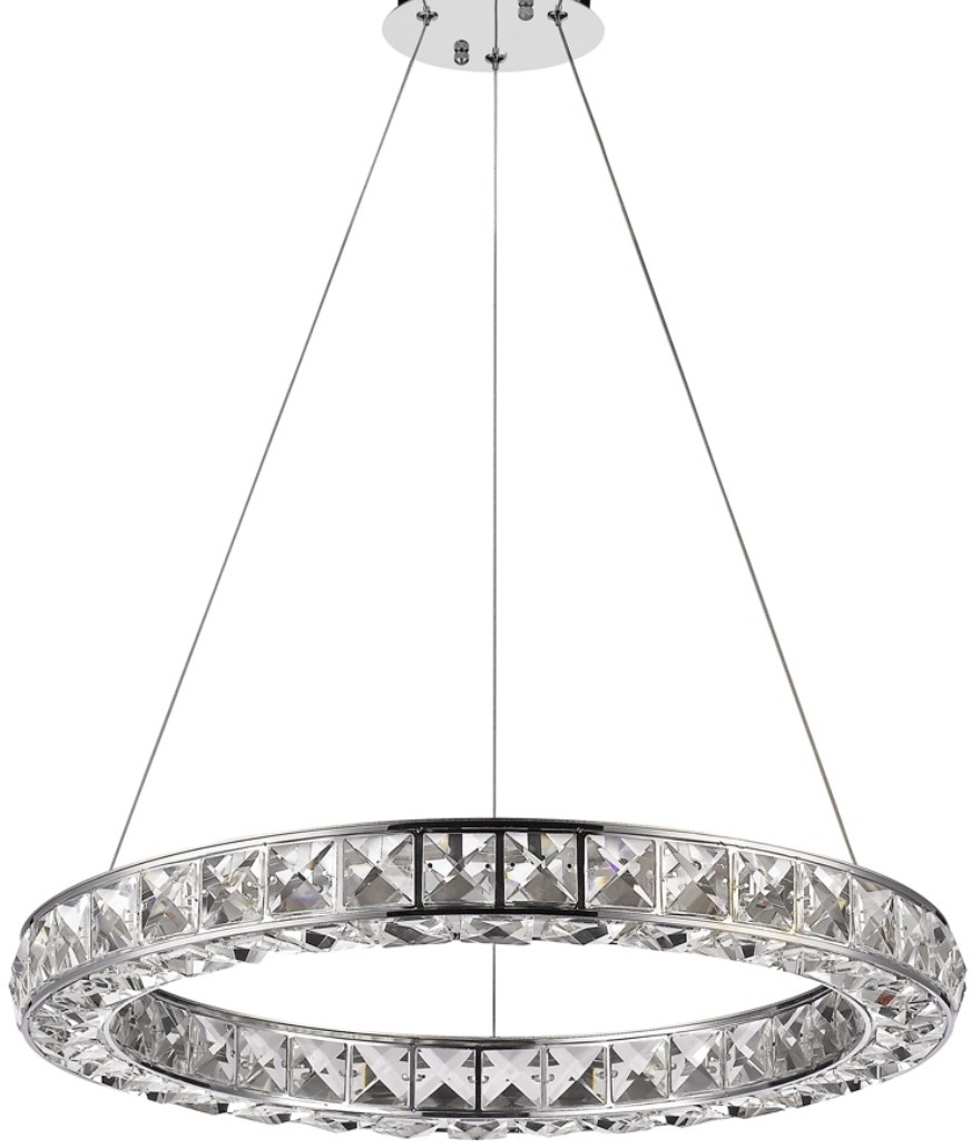 noemi led chrome  u0026 crystal dual oval chandelier 23 u0026quot wx2 u0026quot h