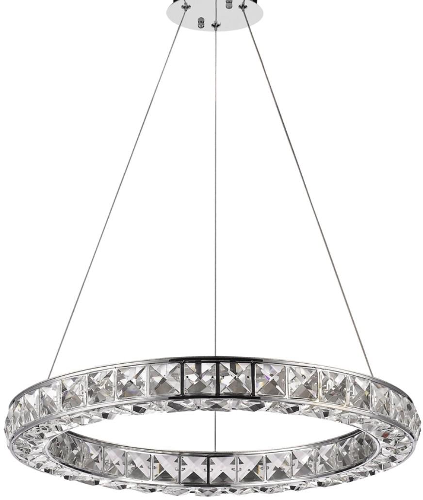 "Noemi Ring LED Crystal Chandelier 23""Wx2""H"