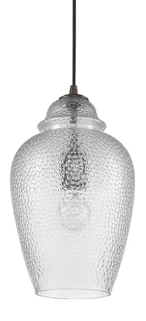 Brielle Textured Ginger Jar Glass Pendant 8 Quot Wx13 Quot H
