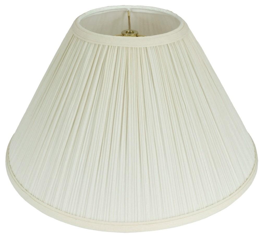 """Cream Mushroom Pleated Coolie Lamp Shade 16-24""""W"""
