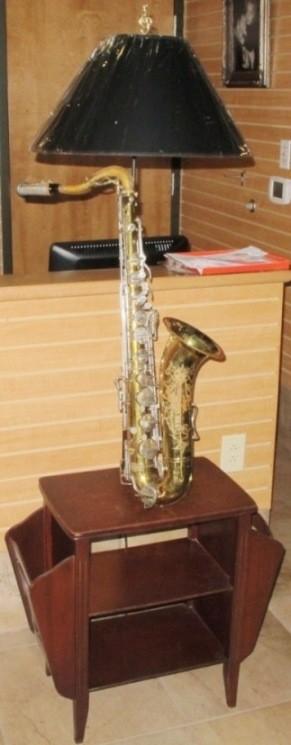 Saxophone Music Lamp Table