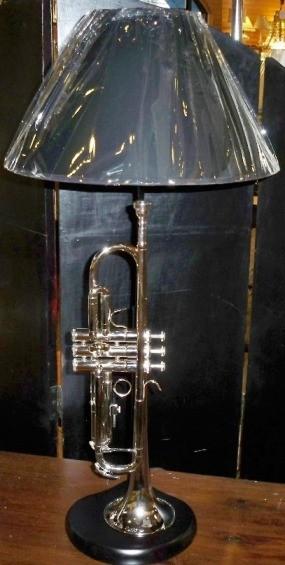 Silver Trumpet Lamp