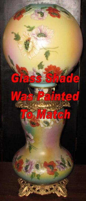 Intricate Hand Painting On Replacement Glass Shade