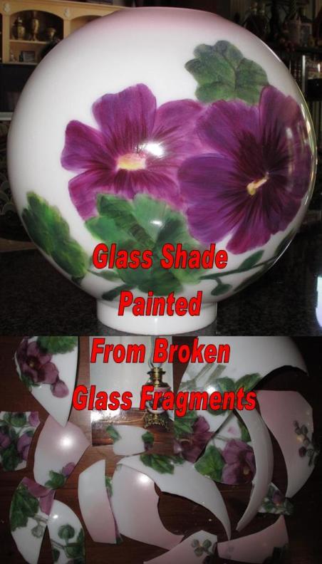 Matching Ball Glass Created Using Broken Glass Fragments