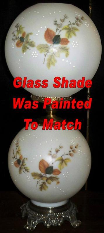 Custom Hand Painted Ball Globe Glass Shade Replacement