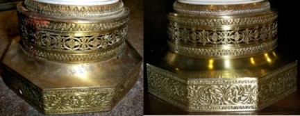 Brass Bases Tarnished Pitted Then Polished Amp Lacquered Lamp Shade Pro