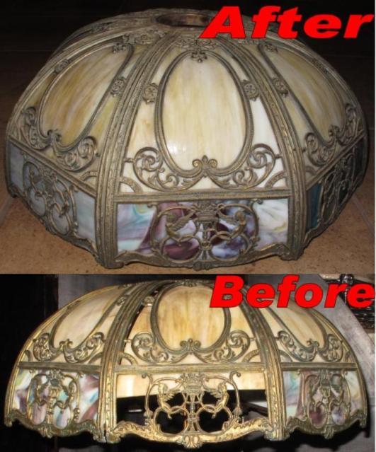 Vintage Slag Lamp Shade Repair Lamp Shade Pro