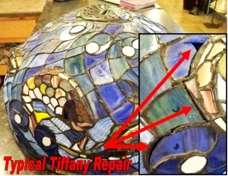 3 Dimensional Fish Tiffany Repair