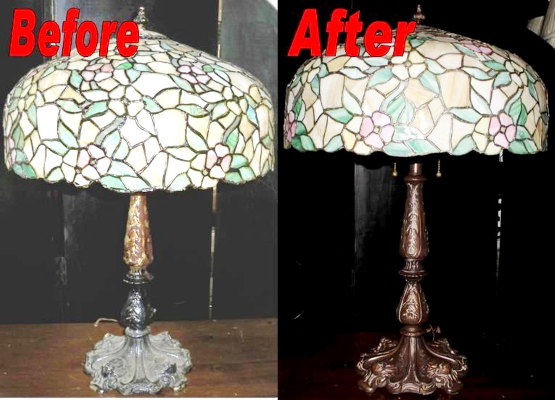 Tiffany Lamp Shade Repaired Base Restored Lamp Shade Pro