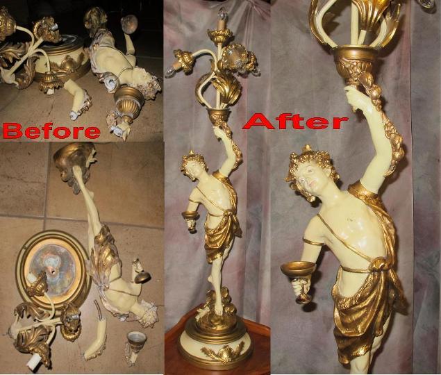Destroyed Statue Lamp Repair Lamp Shade Pro