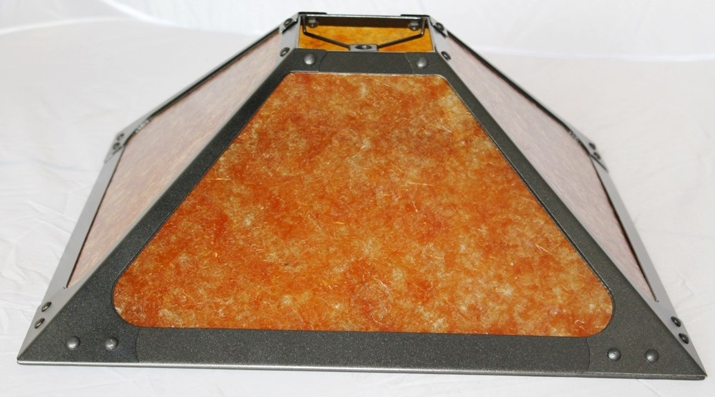 Square Riveted Mica Lamp Shade Low Profile