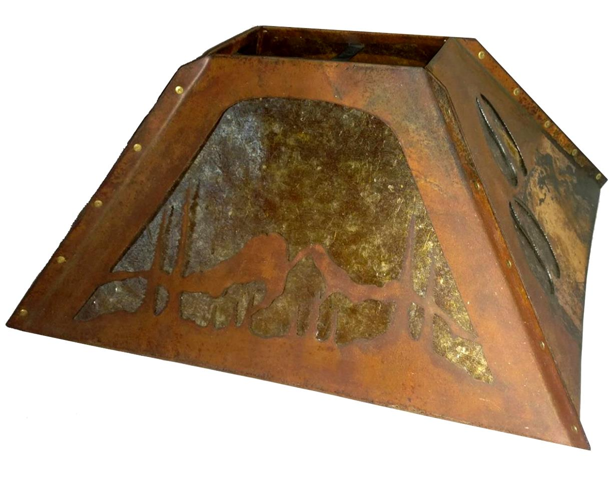 "Deer Hooves & Mountains Mica Lamp Shade 20""W - Sale !"