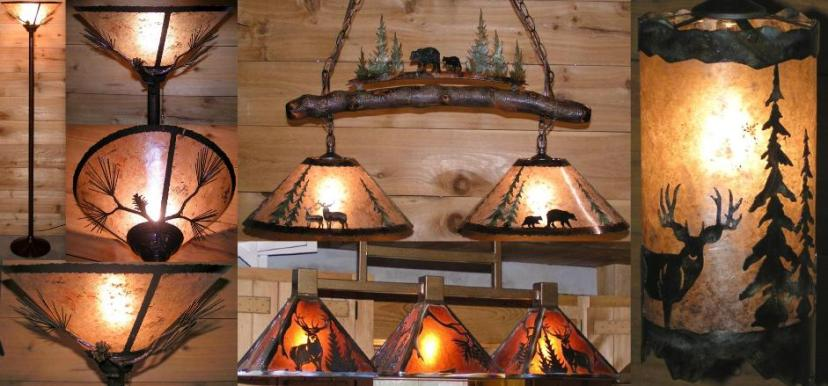 Rustic Wildlife Chandelier Lighting Examples Lamp Shade Pro