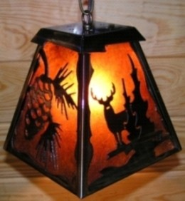 Custom Wildlife Mica Pendant Light