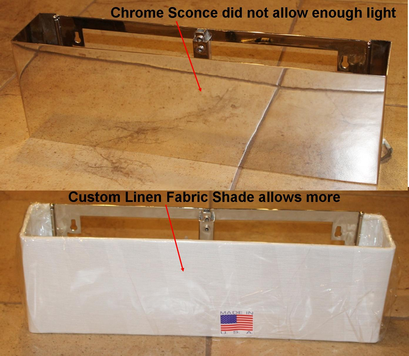 Custom Sconce Lamp Shade