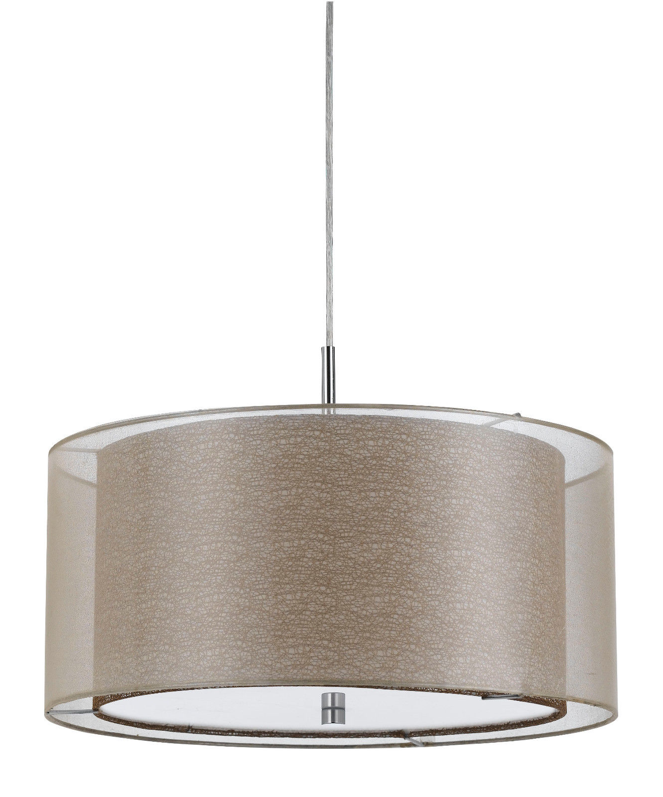 Double Drum Sheer Pendant Light 18 Quot W Fx 3527 1p