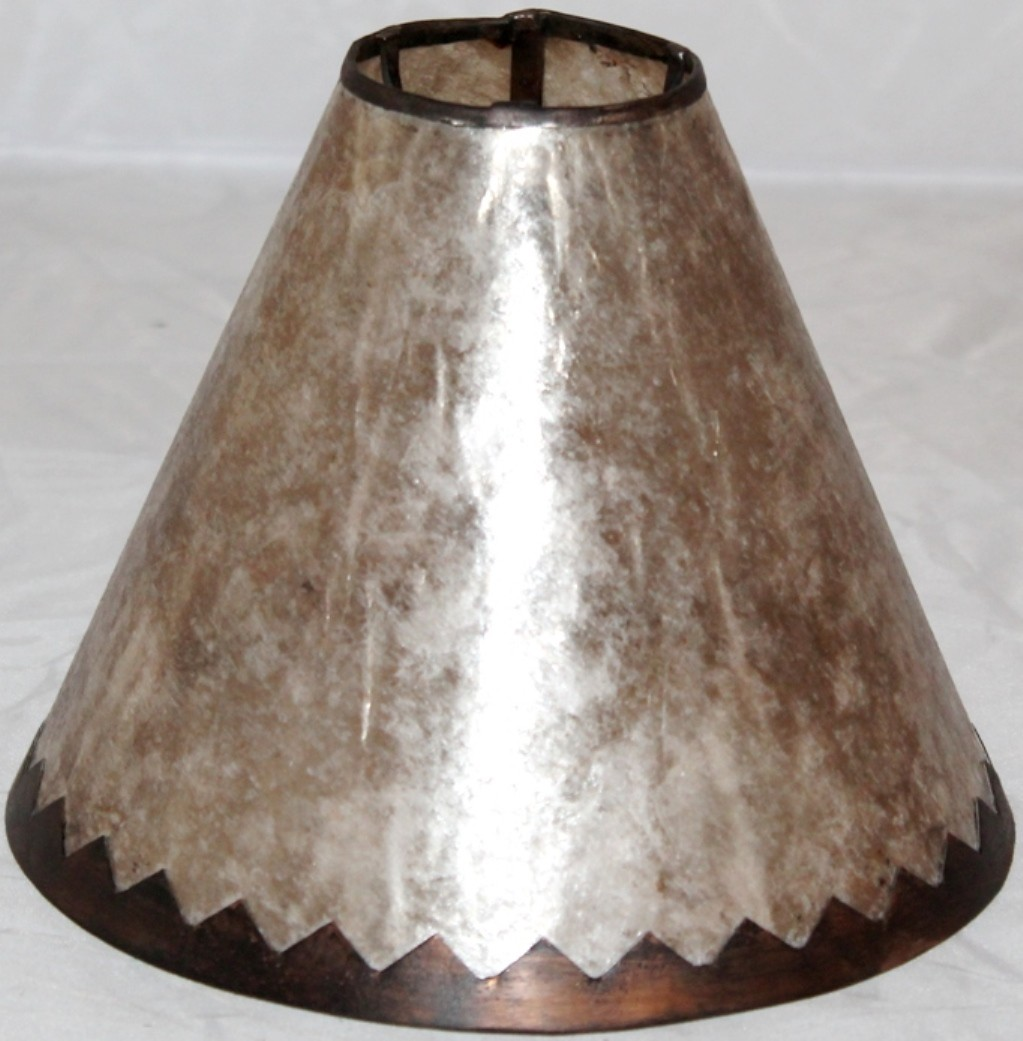 Silver Mica Lamp Shade Jagged Frame