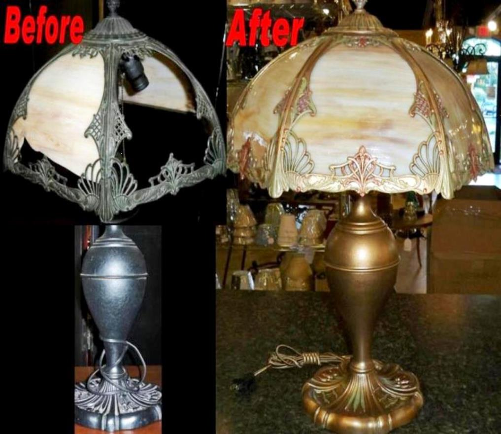 Slag Lamp Shade Repair Totally Restored Lamp Shade Pro