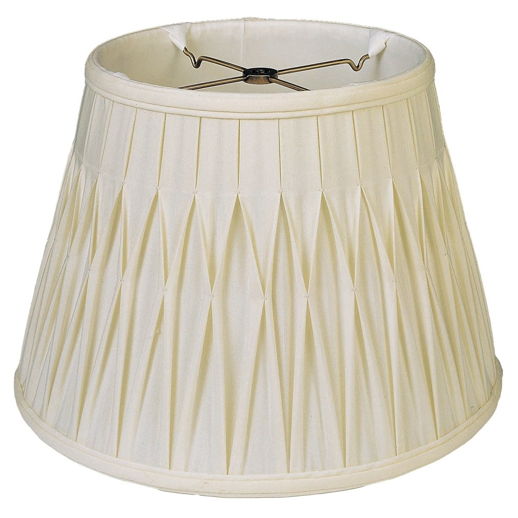 Pleated Lamp Shades For Table Lamps: Silk Smock Pleated Lamp Shade