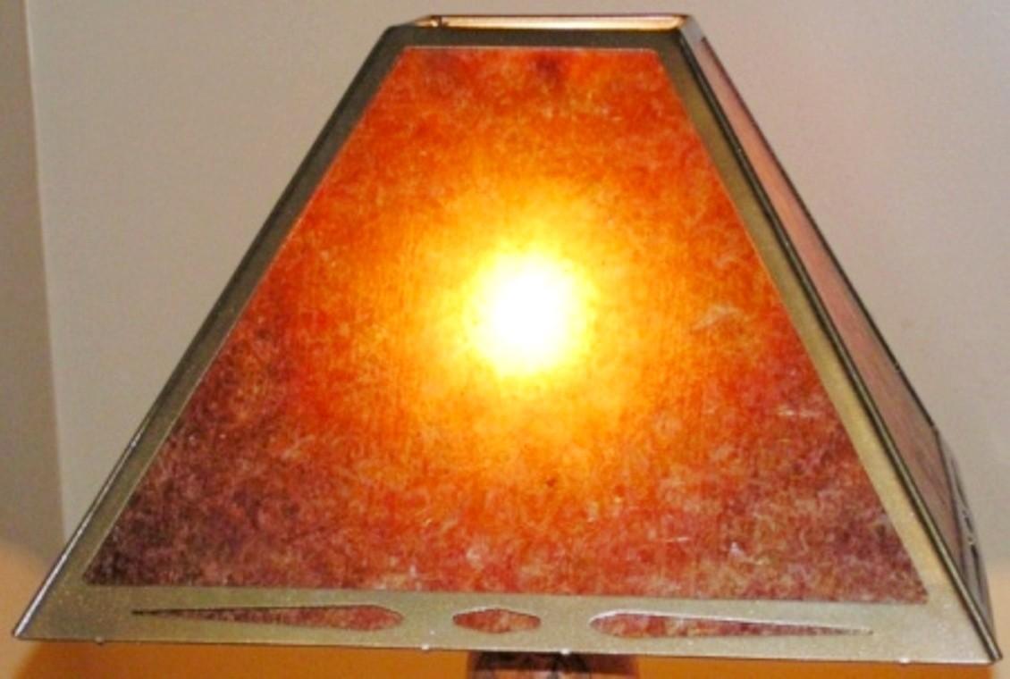 Square Southwestern Mica Lamp Shade