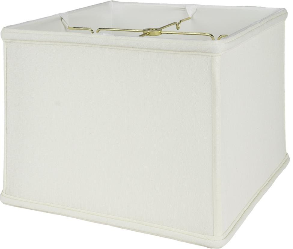 "Square Box Linen Lamp Shade Off White, Beige 8-16""W"