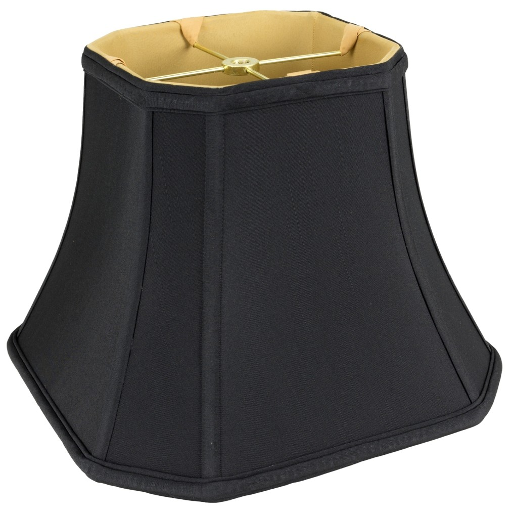 Black Bell Cut Corner Silk Square Lamp Shade Lamp Shade Pro