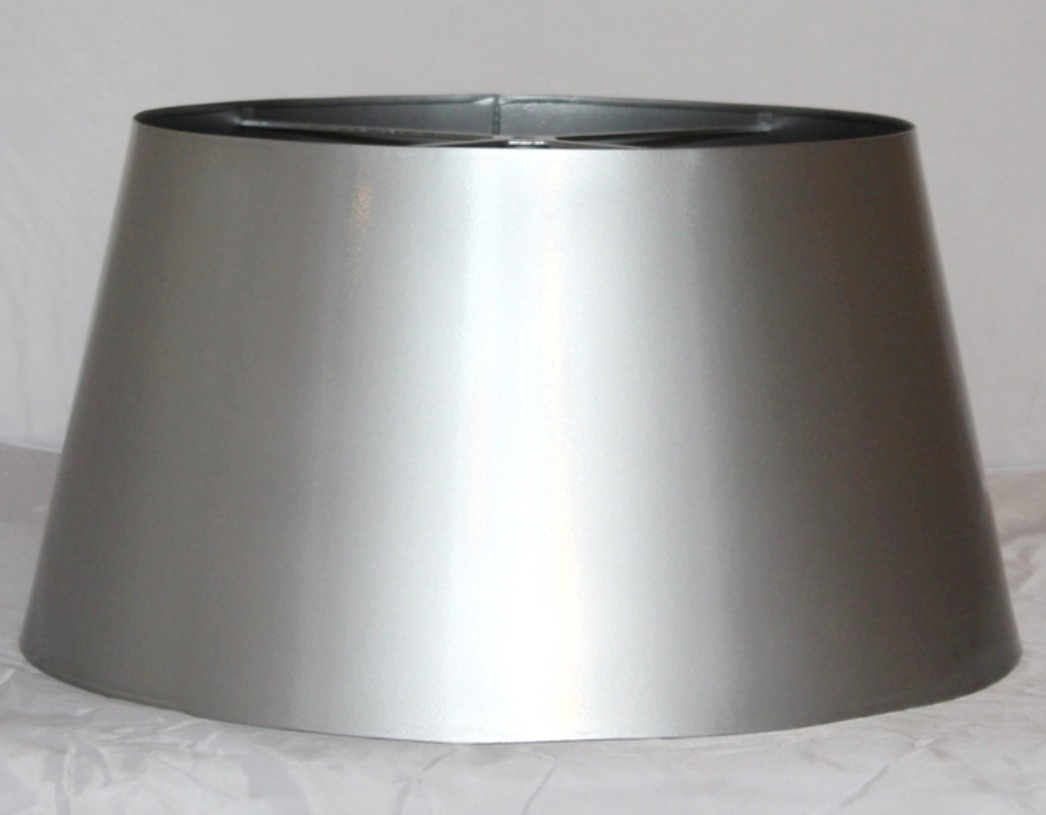 Nickel Stainless Steel Finish Metal Lamp Shade
