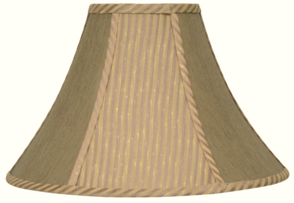 "Striped Bronze Gold Coolie Lamp Shade 16-22""W"