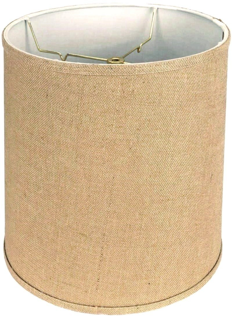 "Tall Burlap Drum Lamp Shade 14-18""W"
