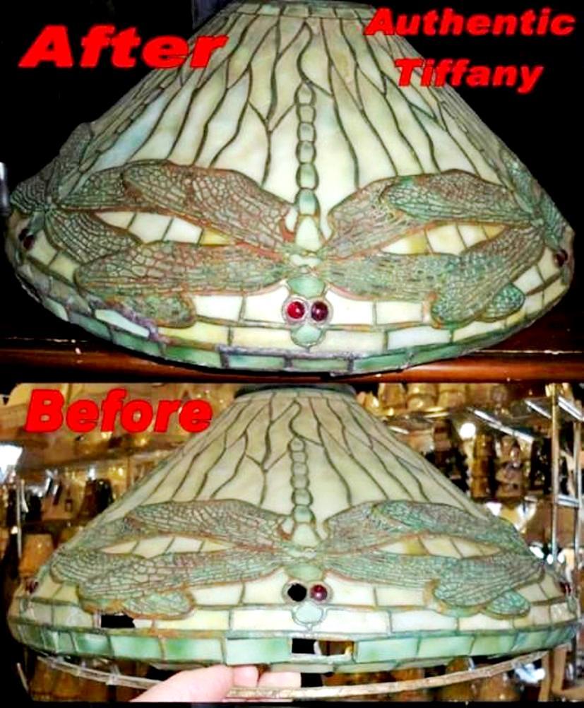 Authentic Louis Comfort Tiffany Clara Driscoll Design Repair