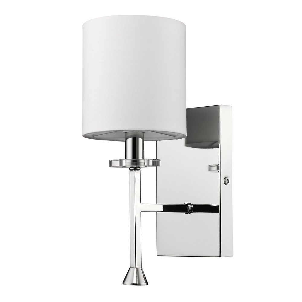 Wall Sconces With Drum Shade : Kara Polished Nickel Drum Shade Wall Sconce Light 5