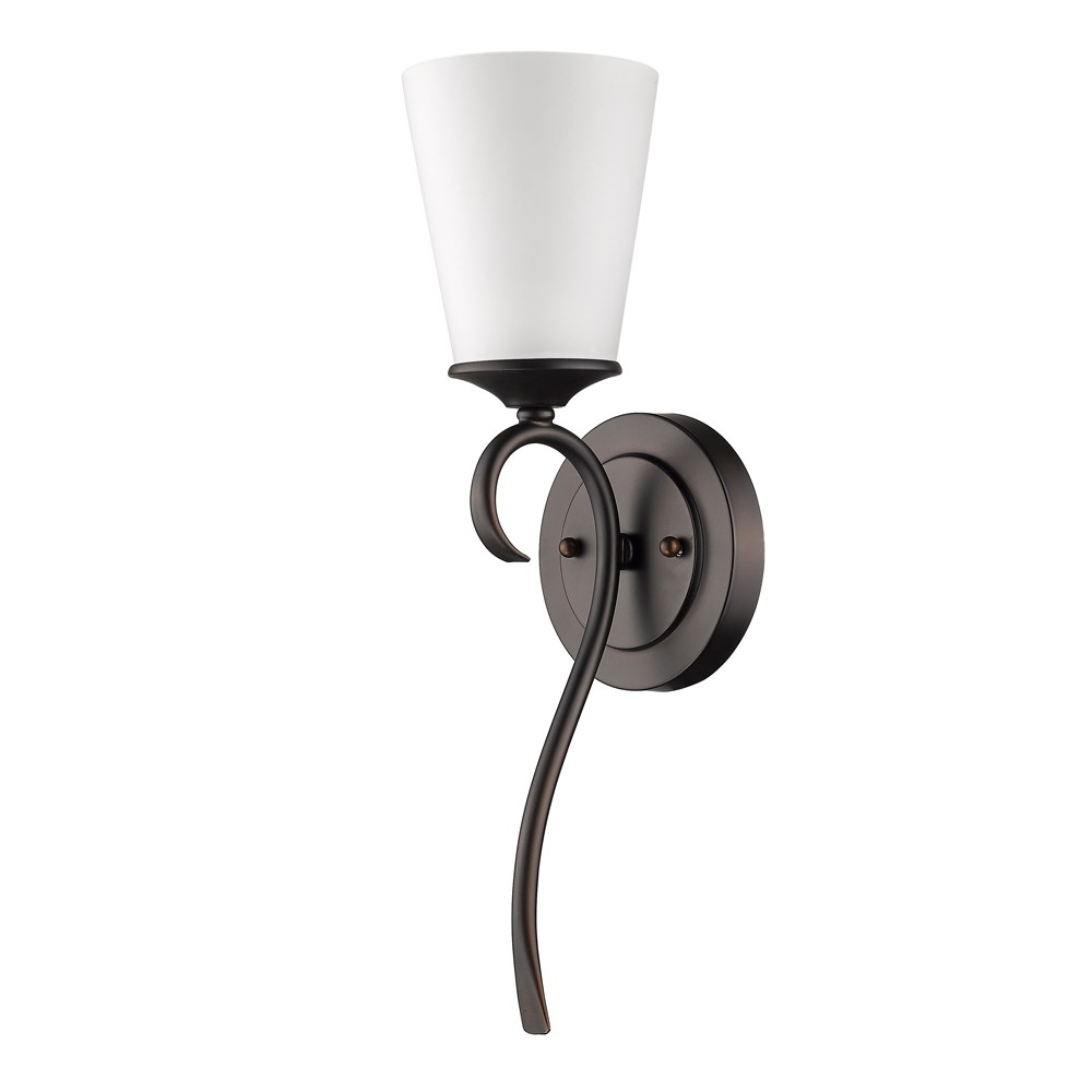 Genevieve Oil Rubbed Bronze Glass Shade Sconce 5