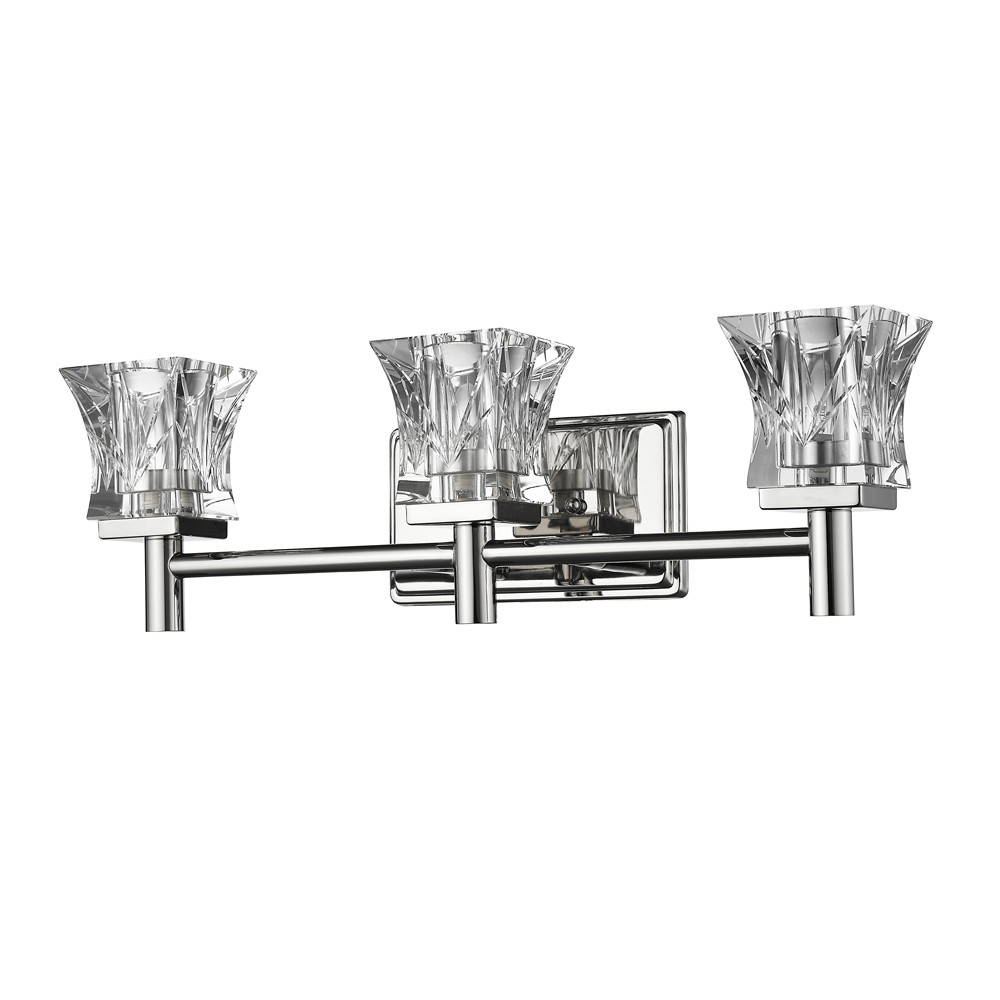 arabella polished nickel crystal wall light 21 u0026quot wx6 u0026quot h