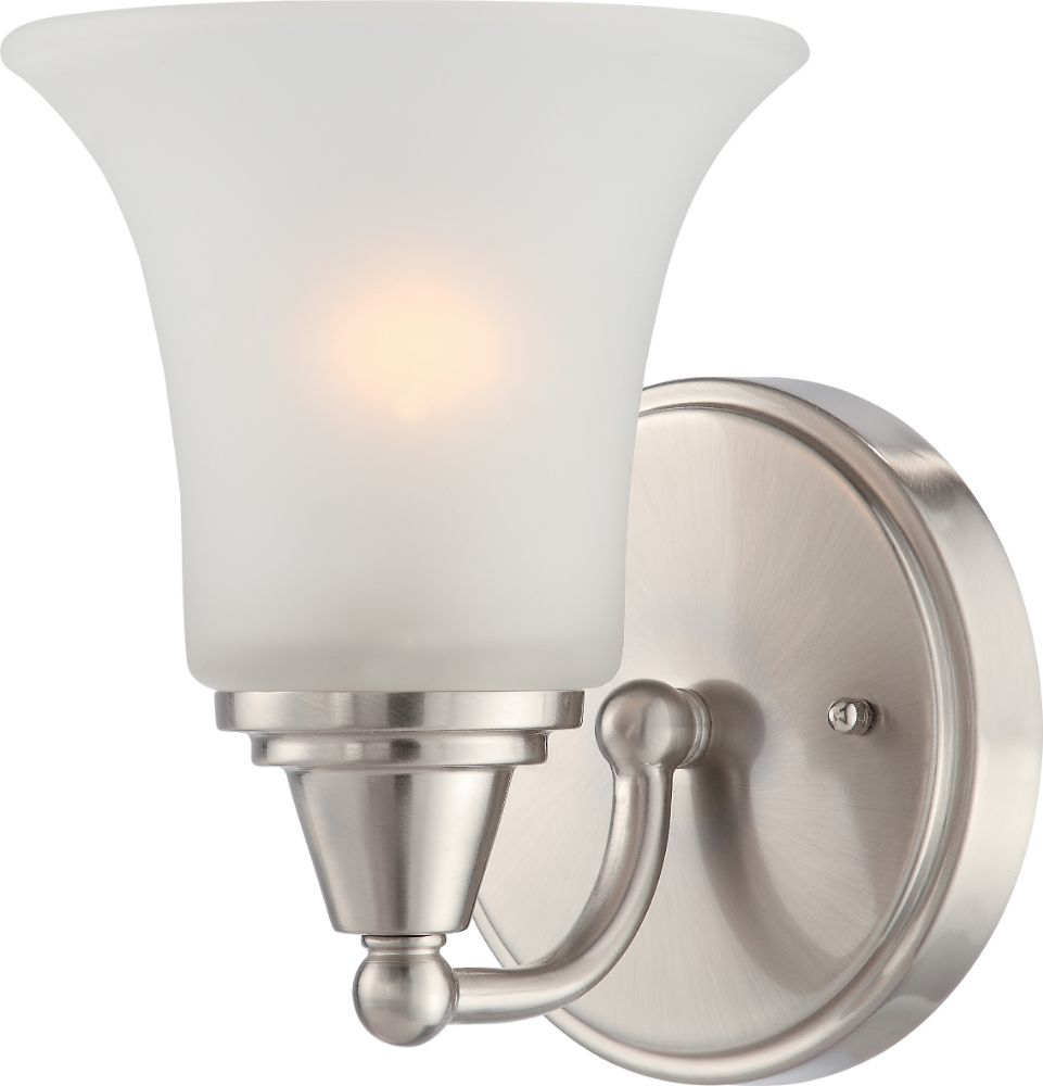 Surrey Brush Nickel Sconce Light Glass Shades 6 Quot Wx8 Quot H