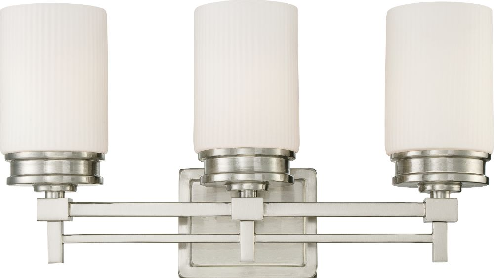 Wright Brushed Nickel Glass Shade Sconce Light 21wx11h