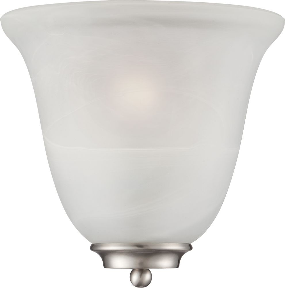 Wall Sconces Alabaster Glass : Empire Brushed Nickel & Alabaster Glass Wall Light 10