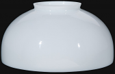 "White Hurricane Glass Lamp Shade 14"" Fitter"