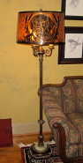 "Custom Reflector 6 Way Floor Lamp Mica Shade 62""H SOLD"
