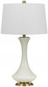 "Ivory Ceramic Table Lamp Linen Drum Shade 28""H - Sale !"