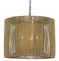 "Bolivar String Drum Pendant Light or Plug In Swag Lamp 16""W"