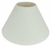 "Rolled Edge Coolie Homespun Linen Lamp Shade Cream, Beige 16-24""W"