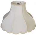 "Umbrella Bell Victorian Silk Lamp Shade Cream, White 16-20""W"