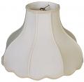 "Umbrella Bell Victorian Lamp Shade Cream, White 14-20""W"