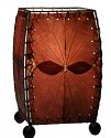 "Alibanbang Butterfly Leaf Mini Table Lamp 8""Hx6""W #477-Burgundy"