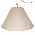 "Cream Pleated Swag lamp 16""W"
