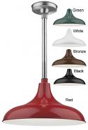 "Aluminum RLM Pendant Light 5 Colors Indoor-Outdoor 14-17""W"