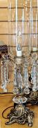 """Vintage Crystal Lamp 20""""H"""